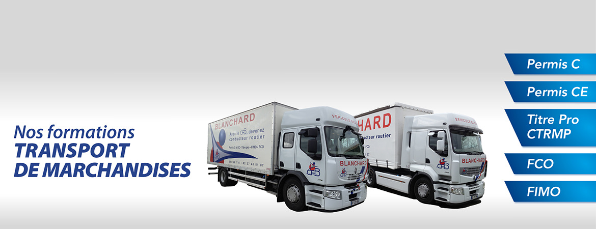 Nos formations TRANSPORT DE MARCHANDISES